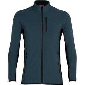 Icebreaker Descender LS Zip Mid Layer Fleece Men, bleu